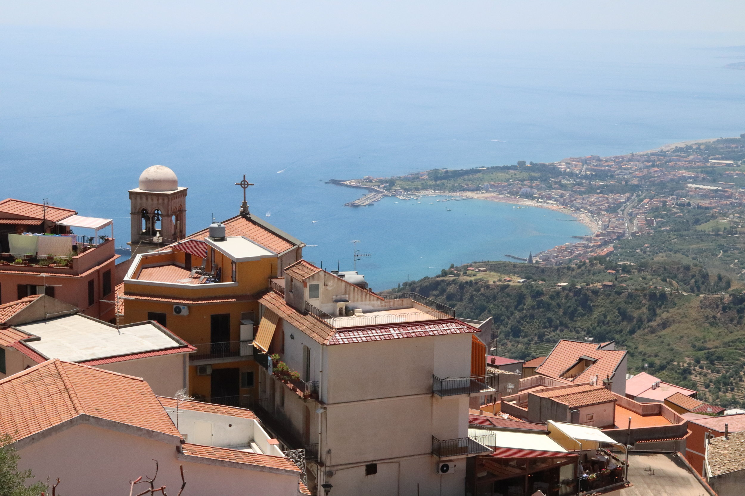 view from hike to Castelmola, Sicily