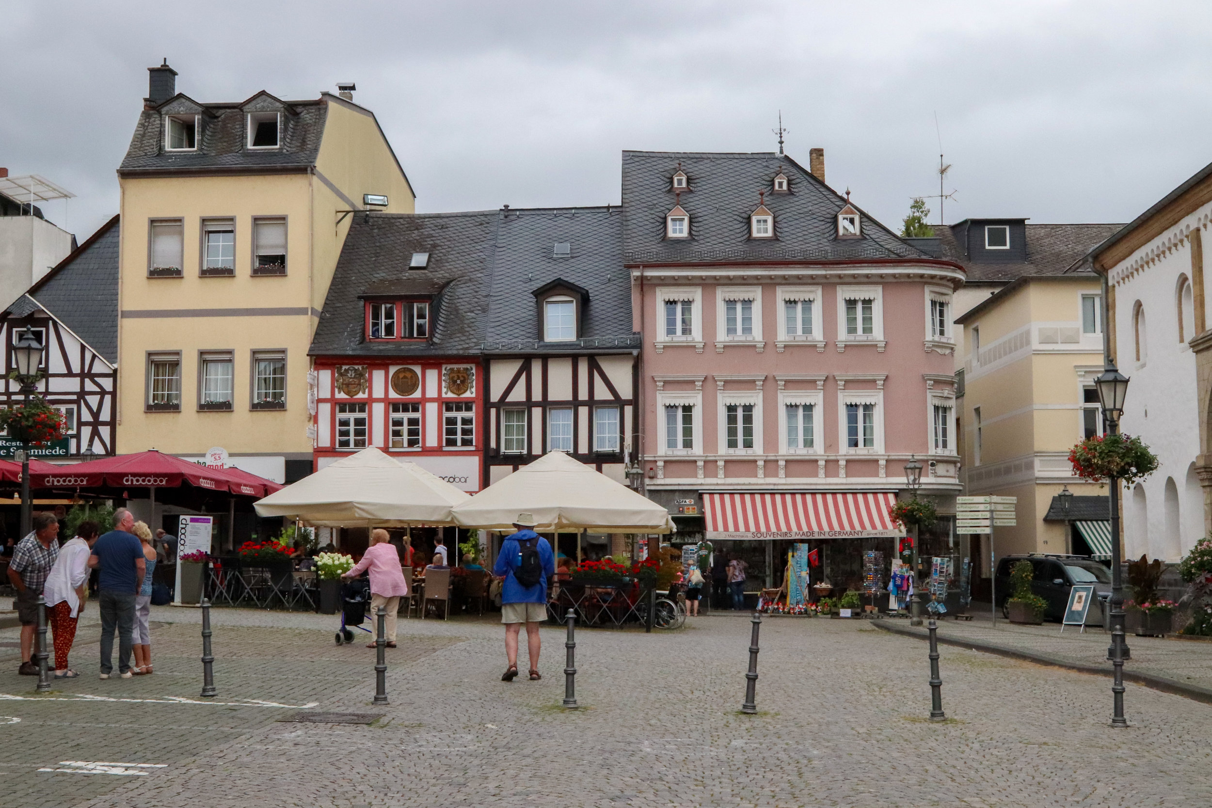 The charming square of Boppard, Germany