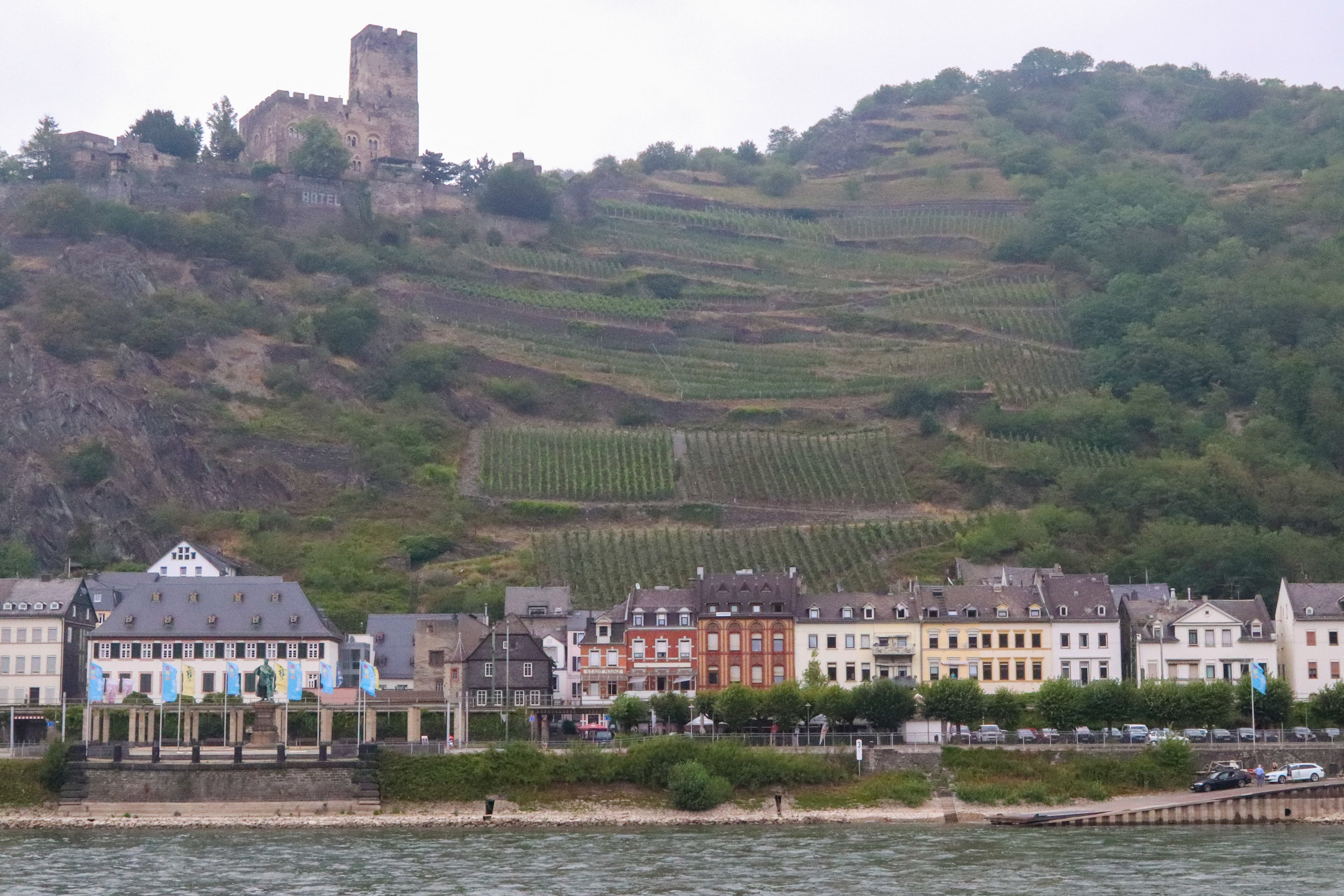 picturesque Rhine river valley