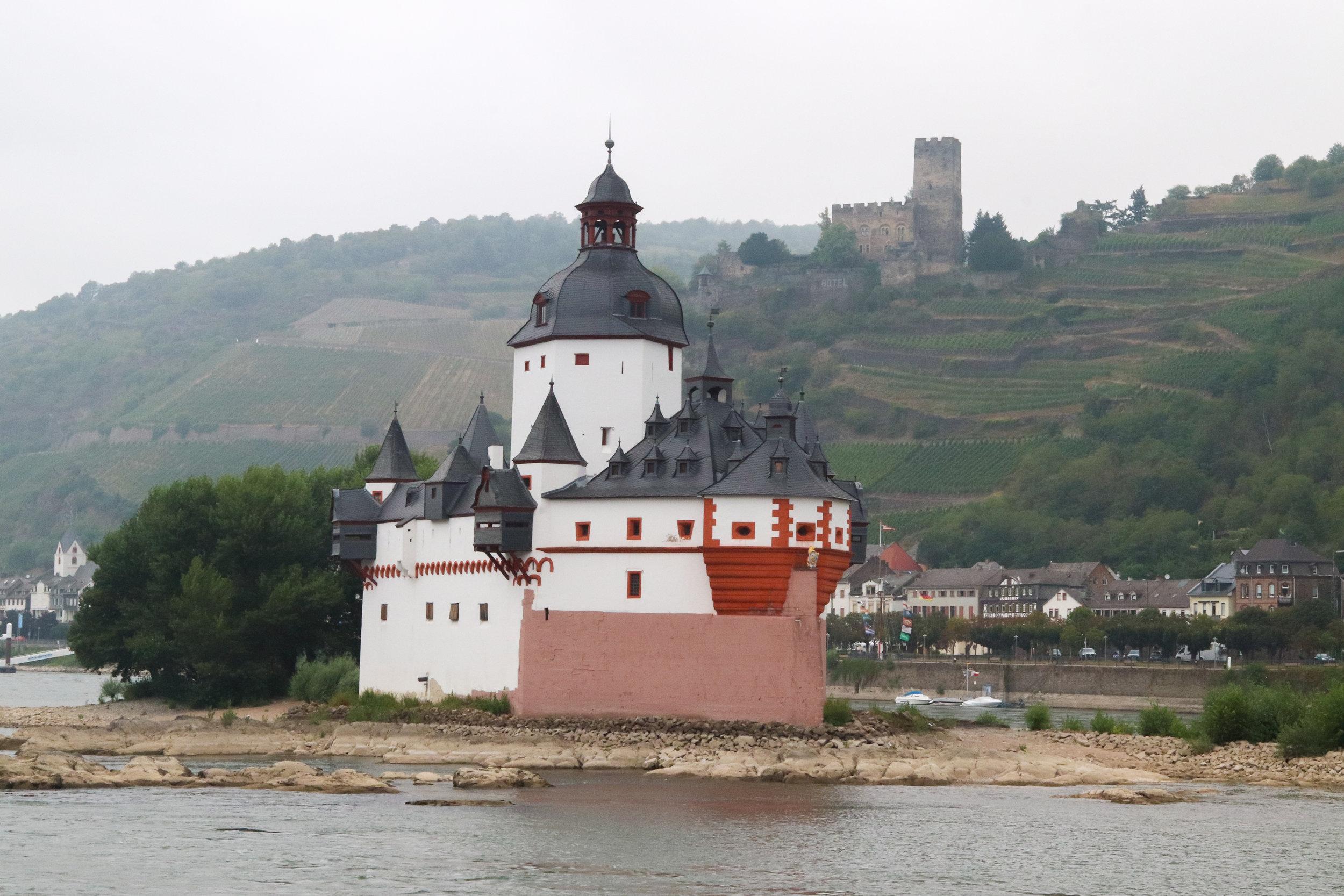 Pfalzgrafenstein Castle on the Rhine River in Germany