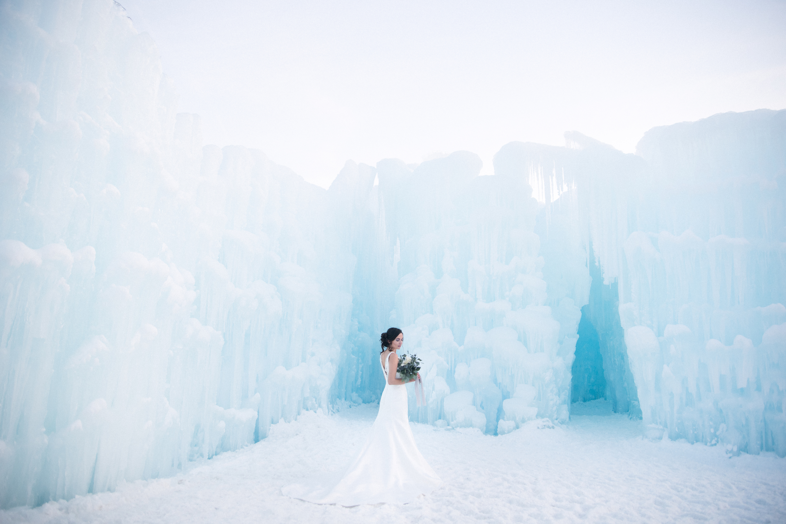 Epic bridal photo shoot New Hampshire