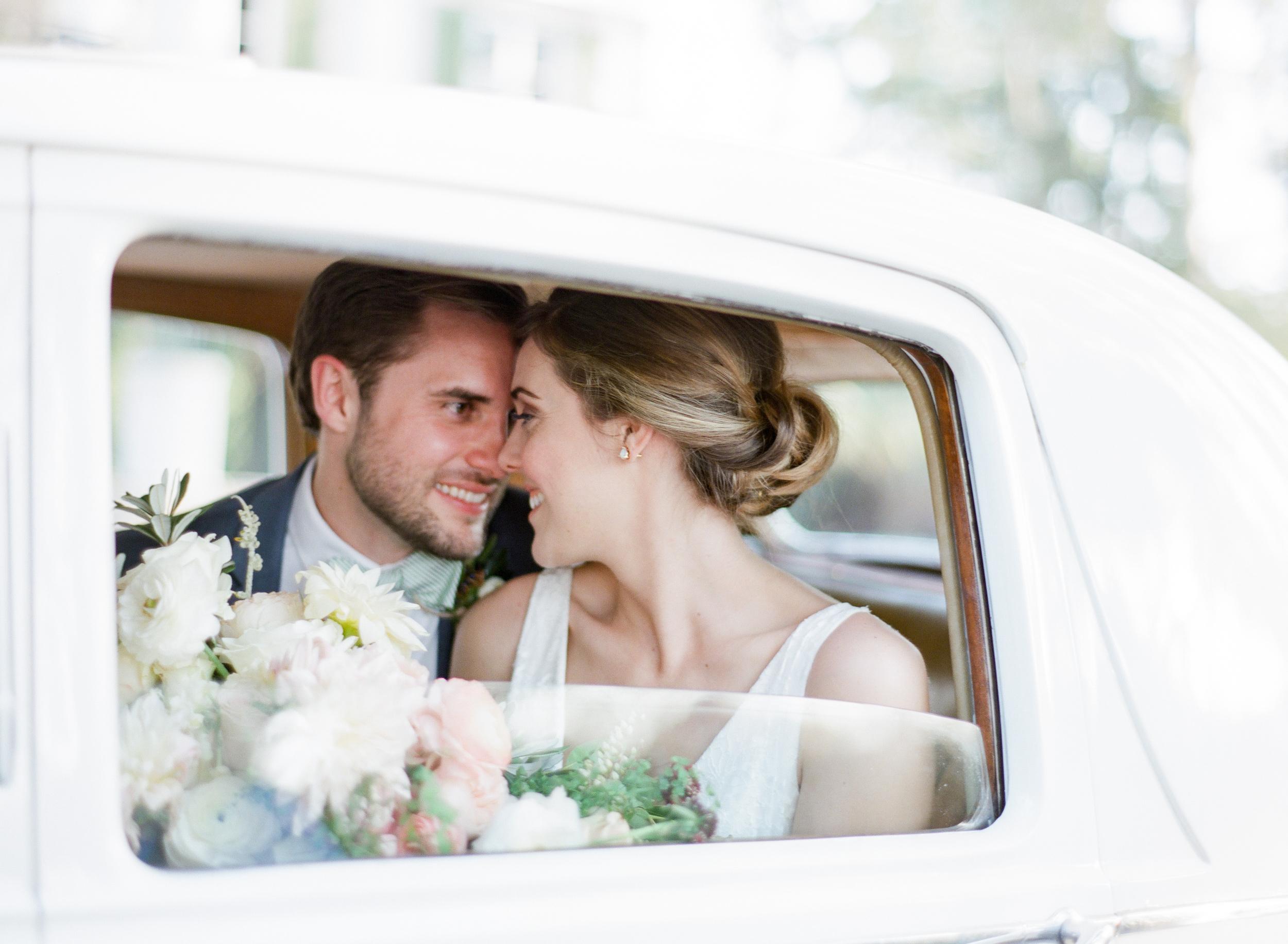 Vintage Car Northampton Wedding