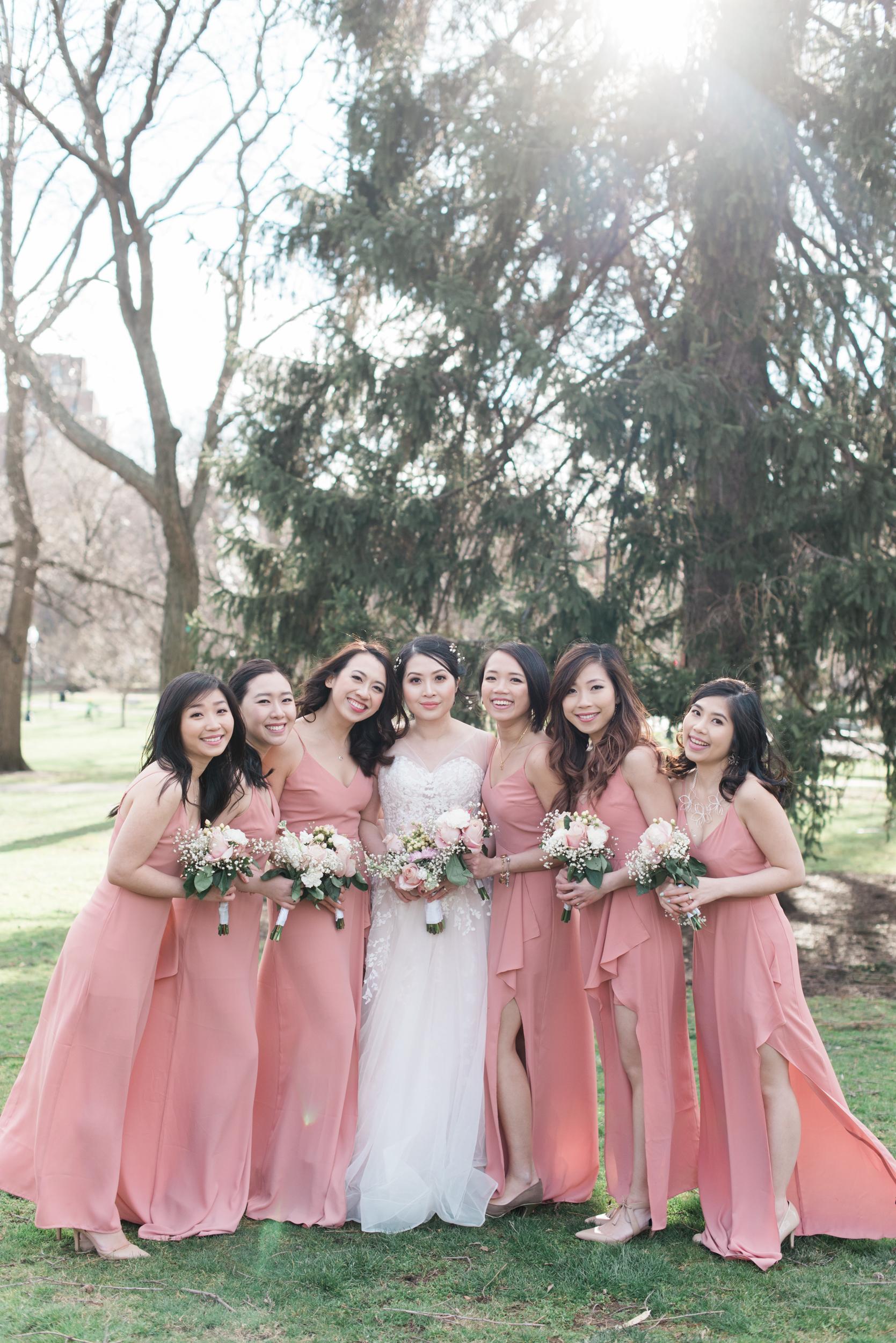 Bridesmaids portraits in Boston