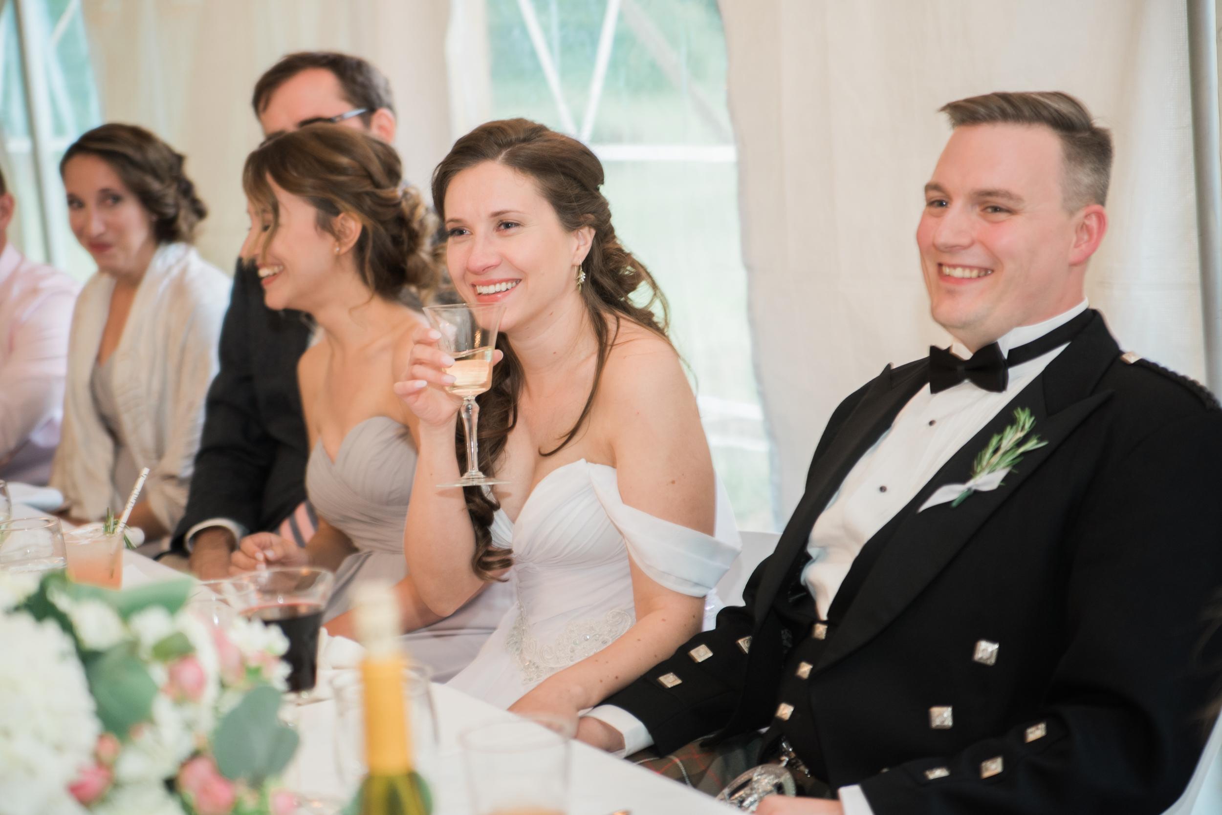 Backyard wedding in Amherst MA