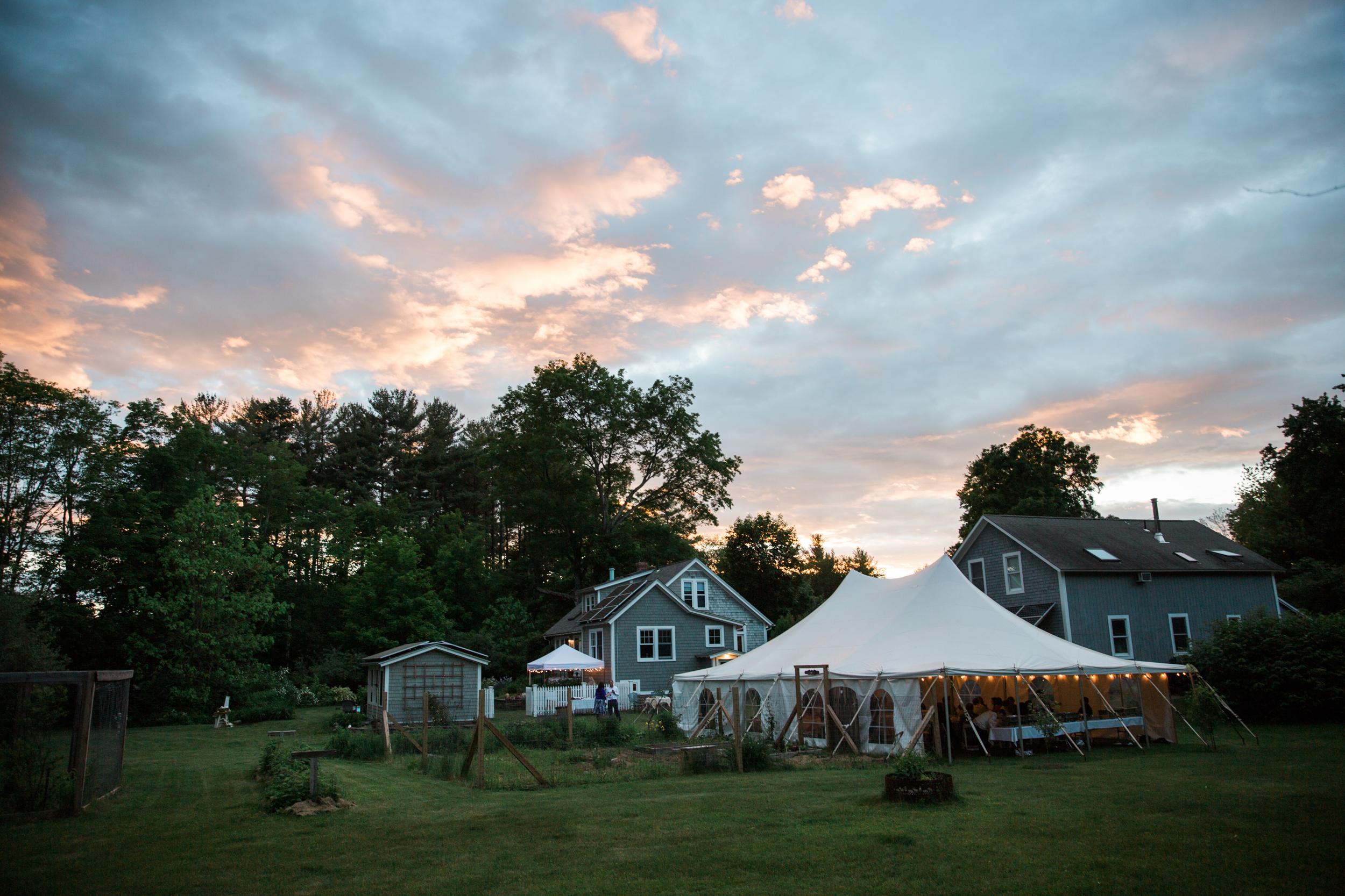 Backyard Wedding Photography in MA