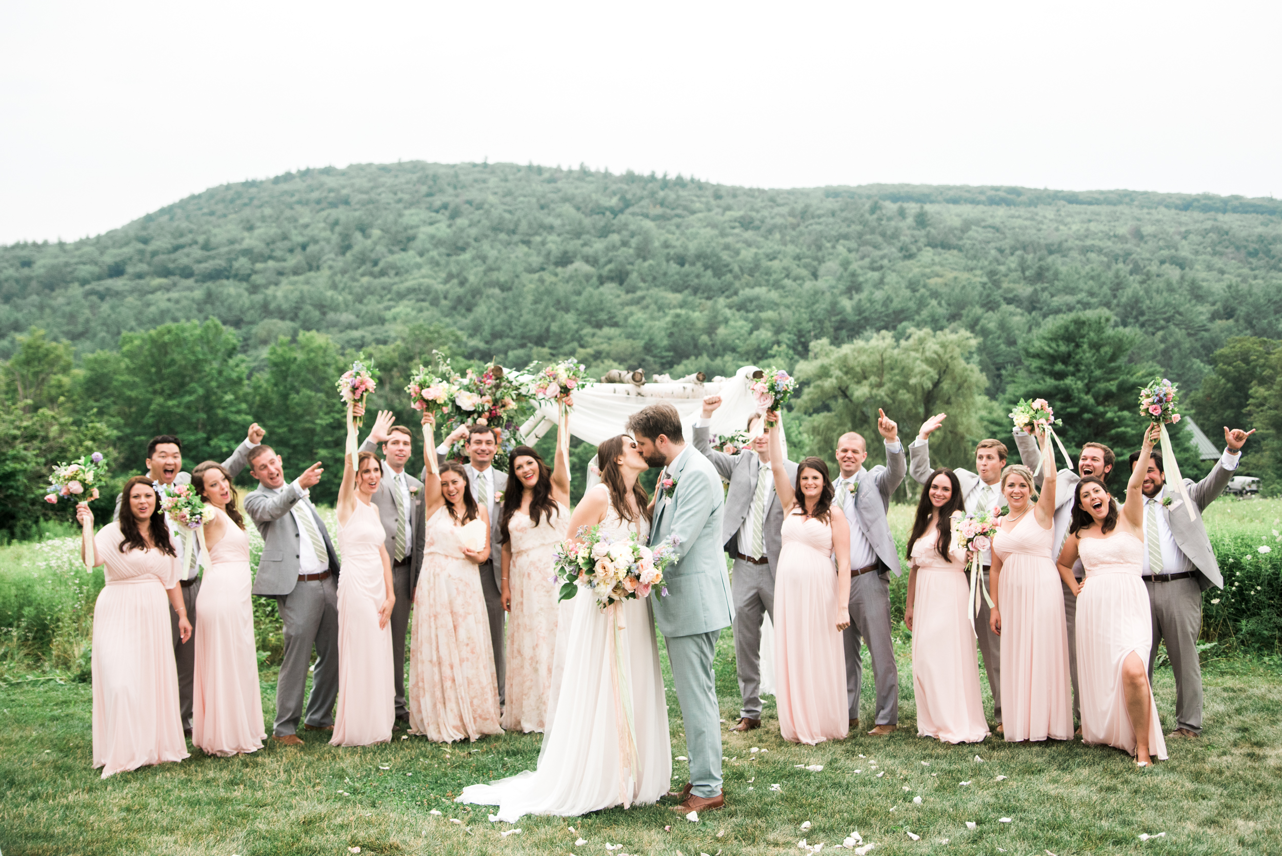 Light and Airy Wedding Photos in Western Mass
