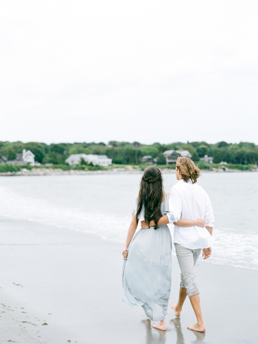 Beach Engagement Photos in RI