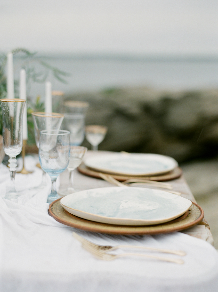 Massachusetts beach wedding decor