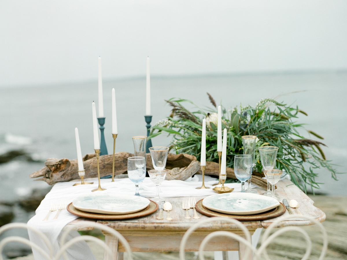 Beach wedding outdoor reception in MA
