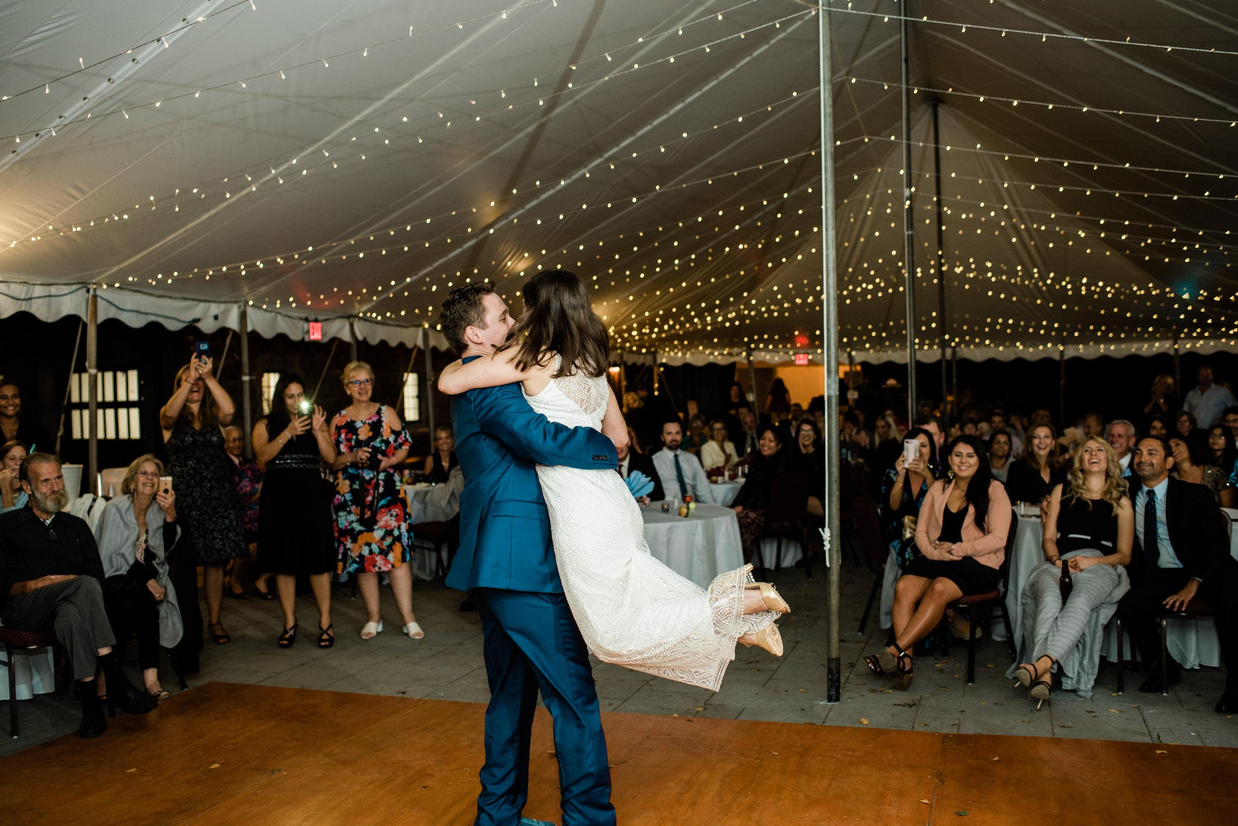 Tented Wedding Reception in Massachusetts