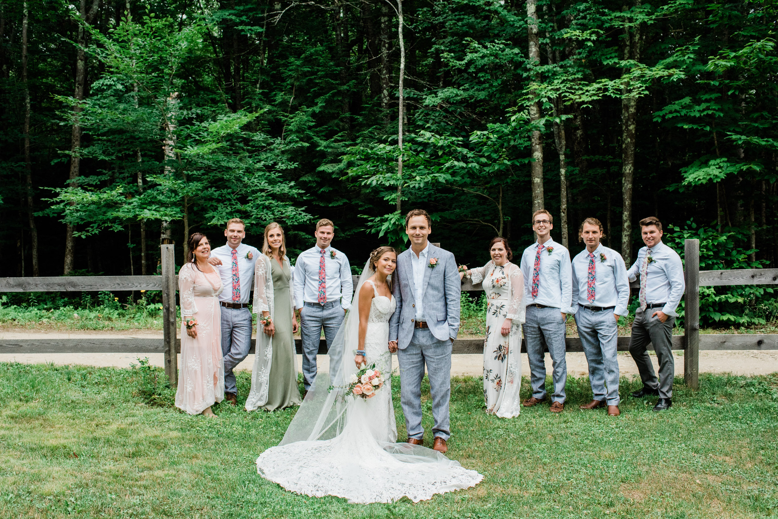 Bohemian wedding style in western mass