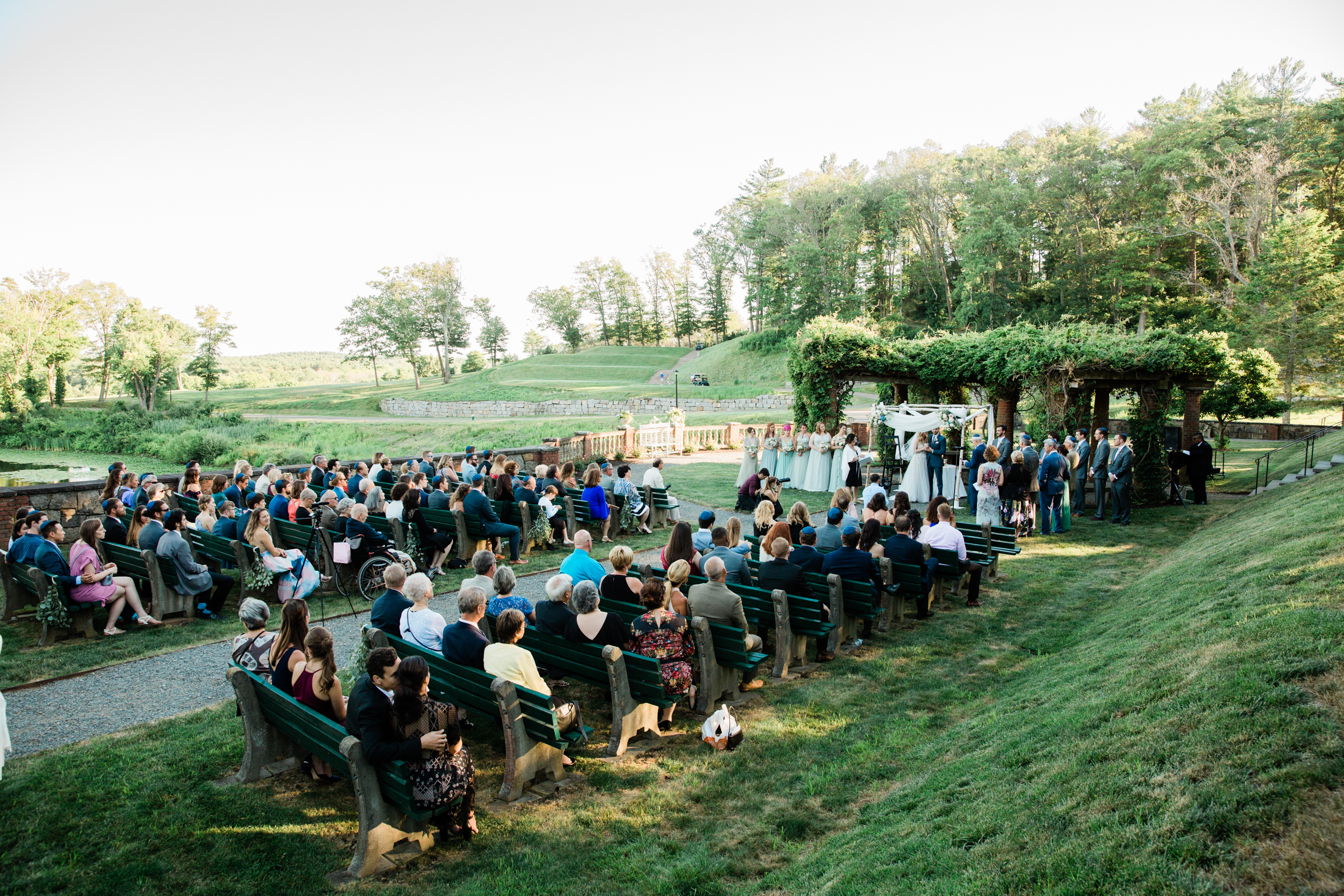 Garden Wedding at the Mansion on Turner Hill