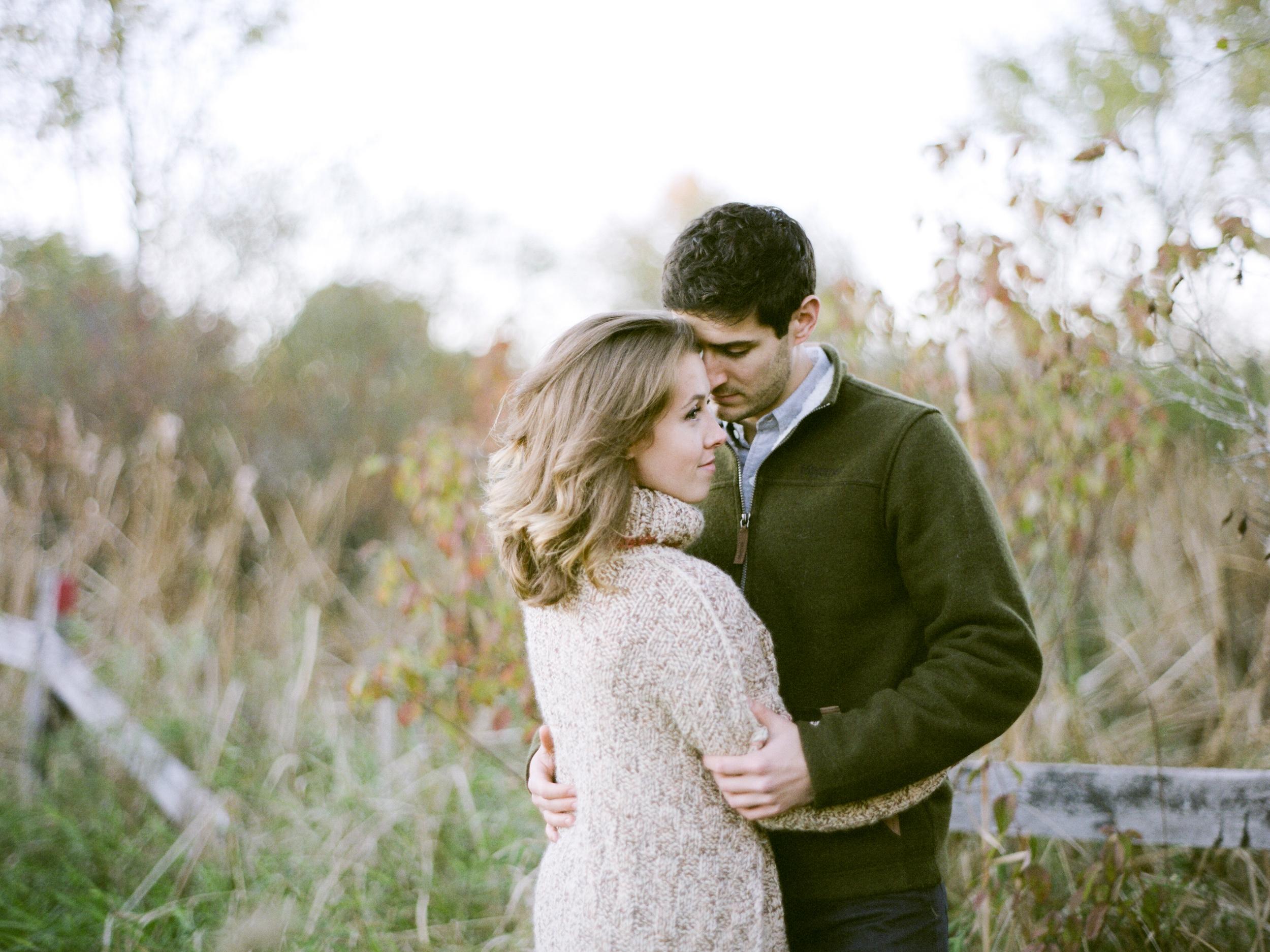 Autumn New England engagement portraits