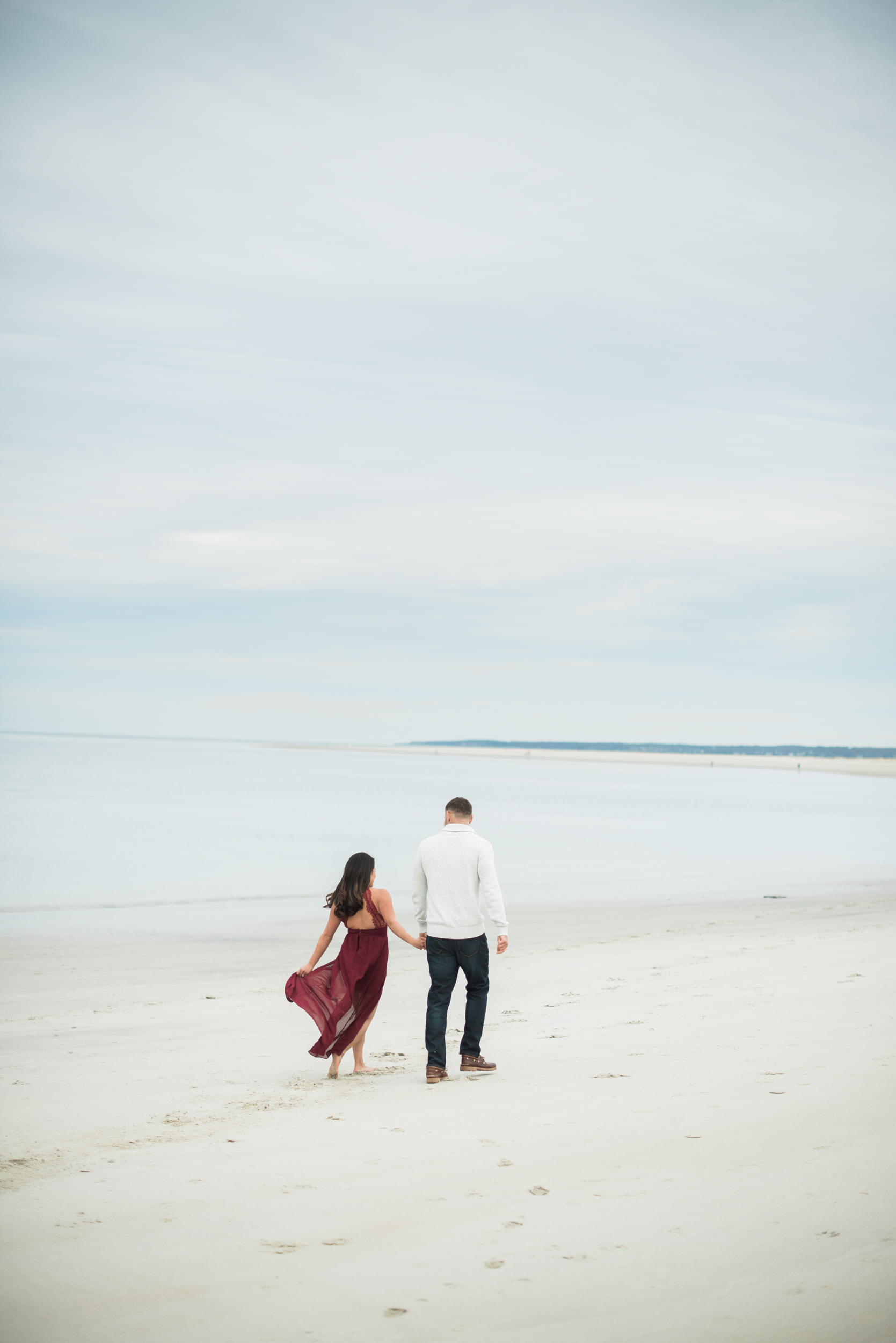 Cranes Beach Ipswich Engagement Portraits