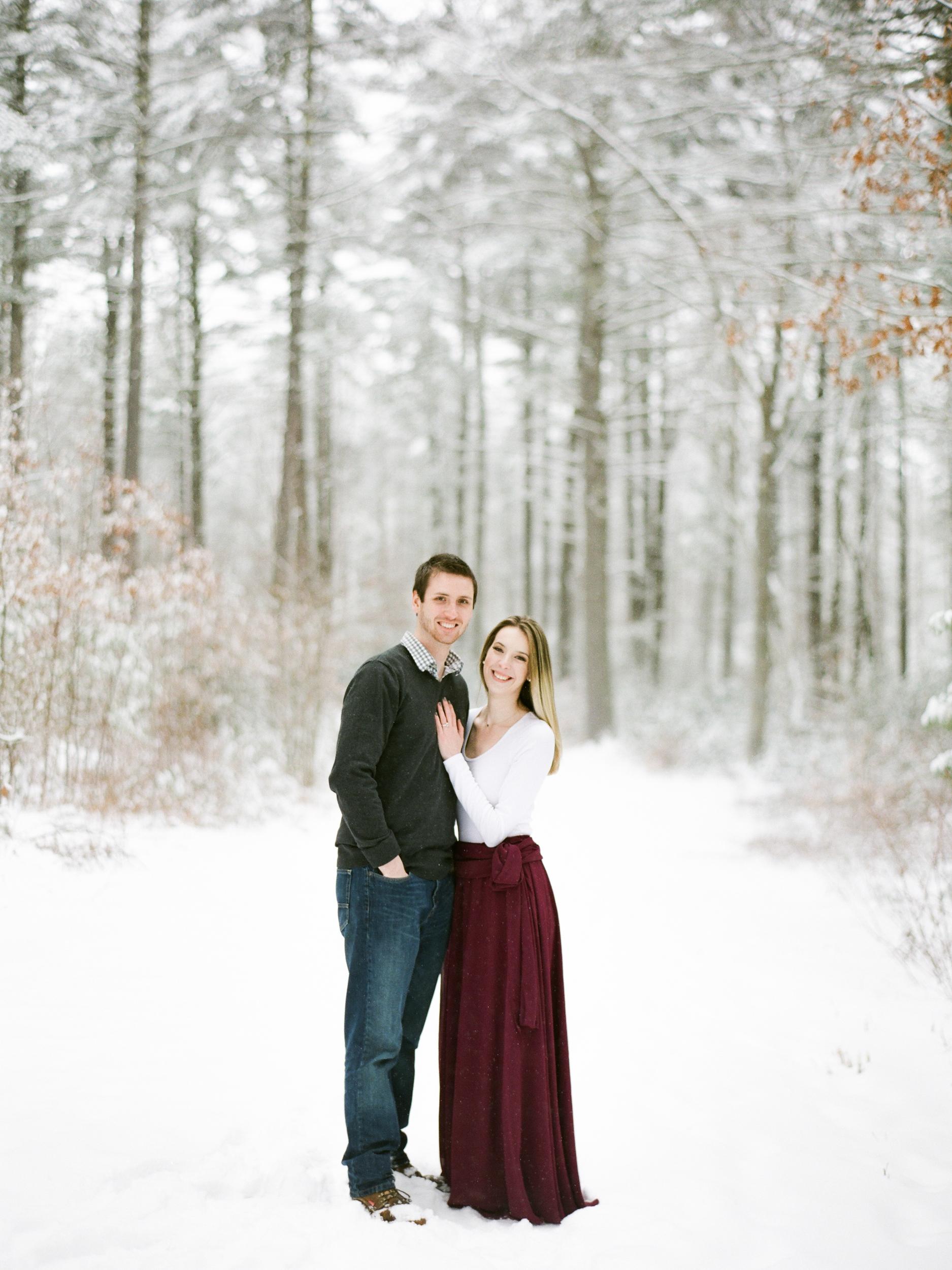 Winter Engagement Photos in Belchertown MA