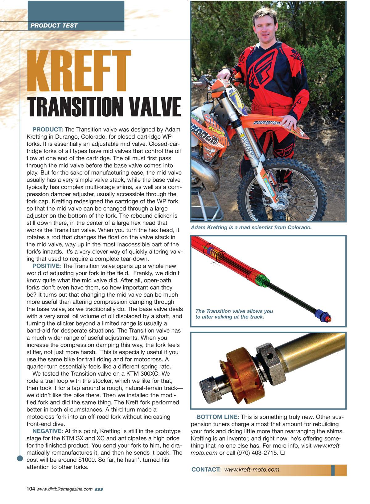 transition valve