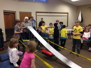 Faith Cadet's Annual pinewood derby race