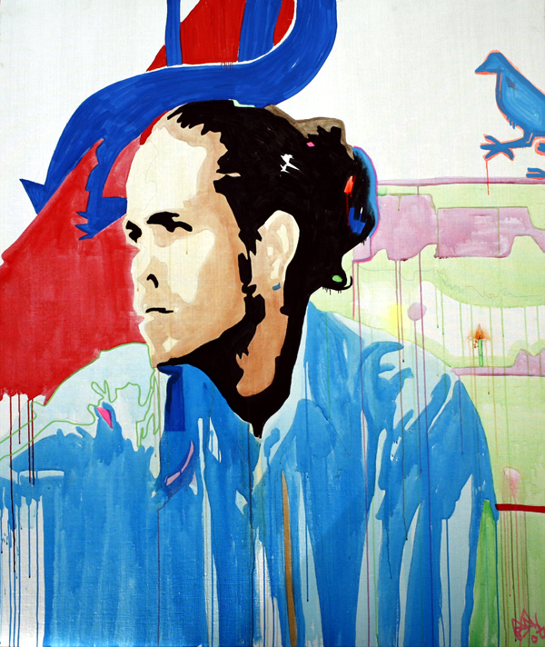 Citizen Cope - New York - Webster Hall |  Acrylic and Gouache on Canvas |70x60in |May 20th 2007