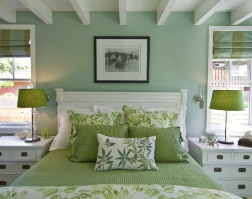 Soft color choices...creating a relaxed atmosphere.