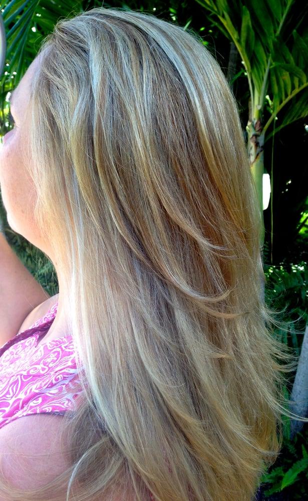 Soft Balayage blonde tones