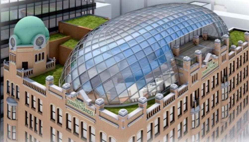 Diamantbeurs wordt creatief hoofdkantoor Amsterdam