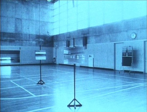 In Takashi Ito's  Spacy  (1981), the camera is continually swallowed up by two-dimensional images mounted on easels