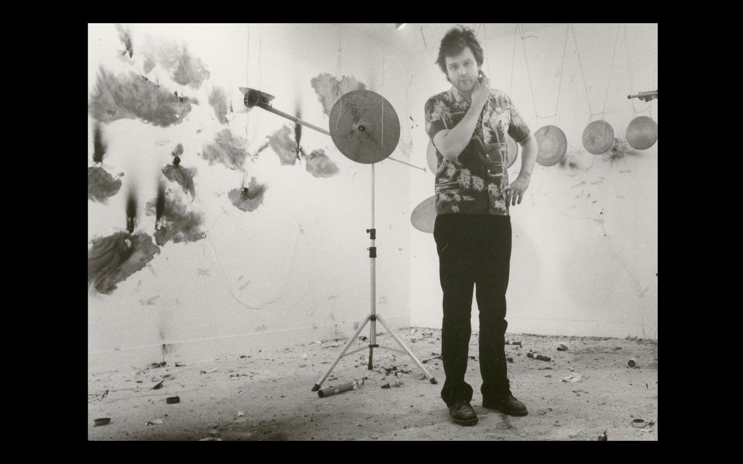 The artist Stephen Cripps in William Raban's  72-82  (2014)