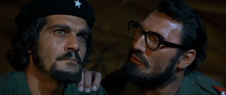 Jack Palance and Omar Sharif impersonate Castro and Che in Richard Fleischer's unintentionally funny Che!