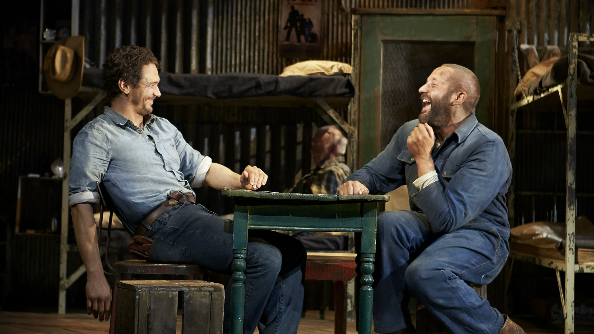 James Franco (left) and Chris O'Dowd in  Of Mice and Men