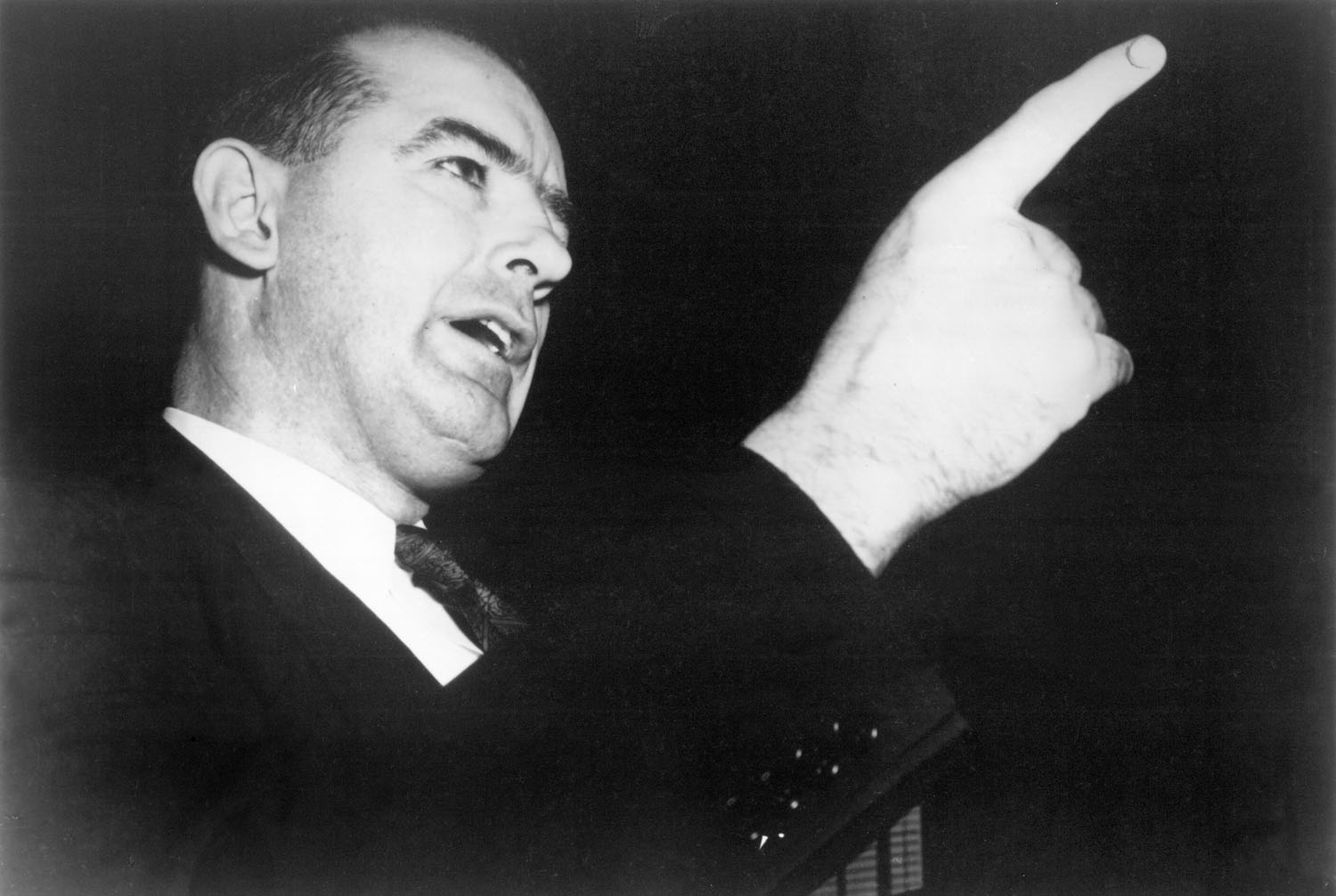 Senator Joseph McCarthy grandstanding in Emile de Antonio's  Point of Order