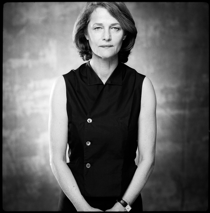 Charlotte Rampling (photo by  Robin Holland )