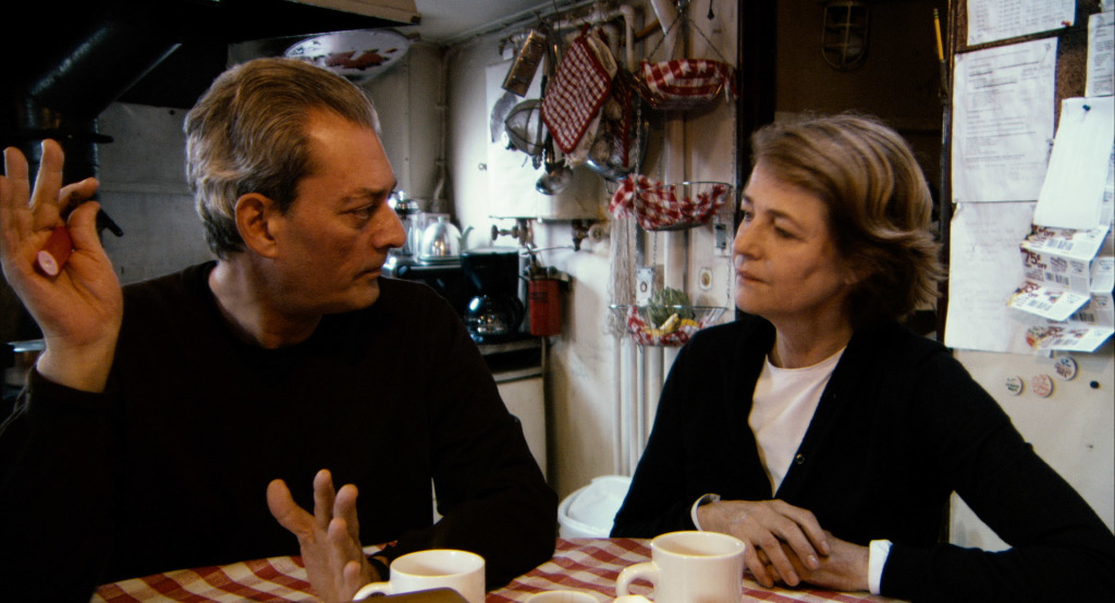 Rampling and Paul Auster in  The Look