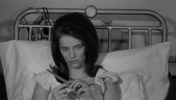 Rampling in one of her very first roles, as Meredith in  Georgy Girl