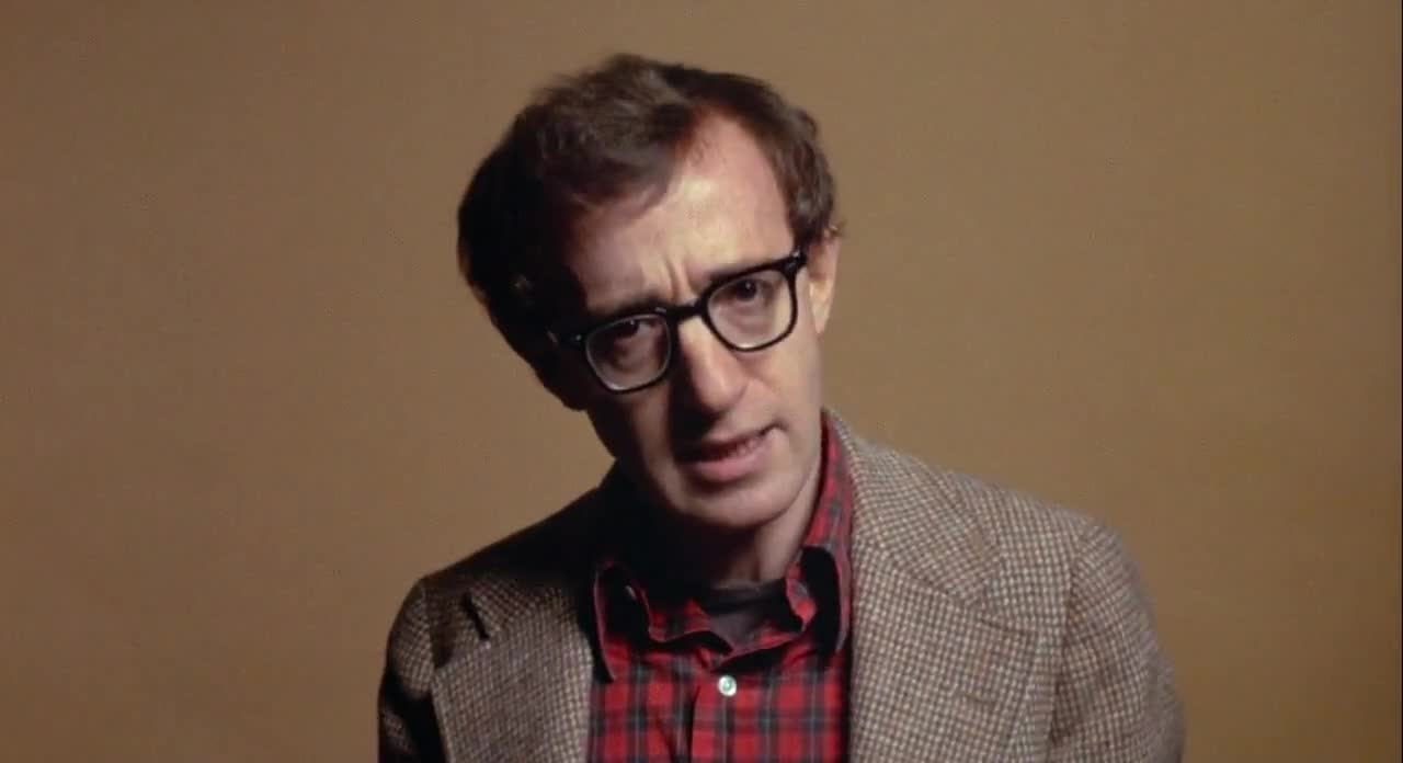 Allen addresses the camera as Alvy Singer in  Annie Hall