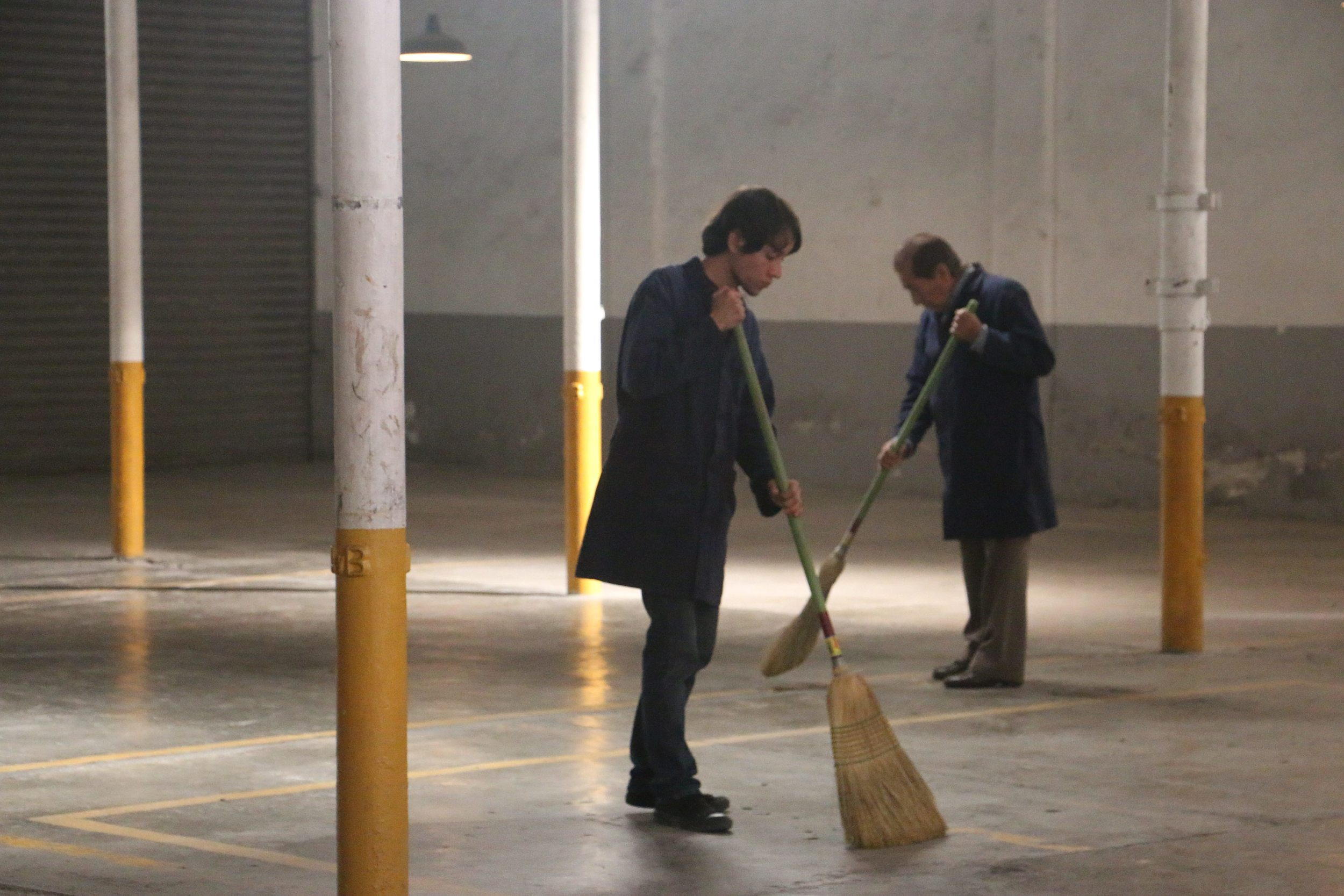 Time to sweep up in Jack Zagha's  Warehoused.