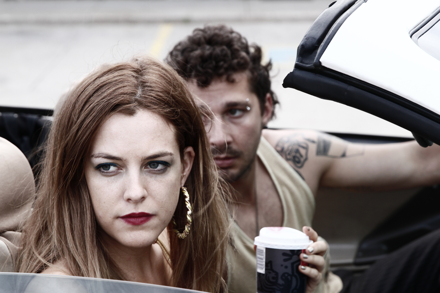The den mother: Krystal (Riley Keough) is a petty tyrant whose control extends to keeping Jake (Shia LaBeouf) as a toy boy at her beck and call.