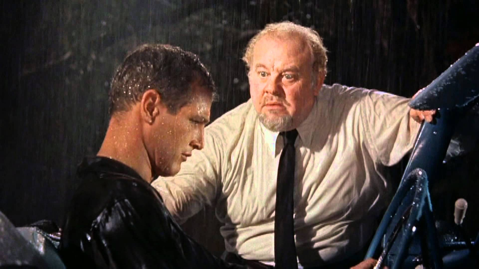 Big Daddy (Burl Ives) confronting Brick.