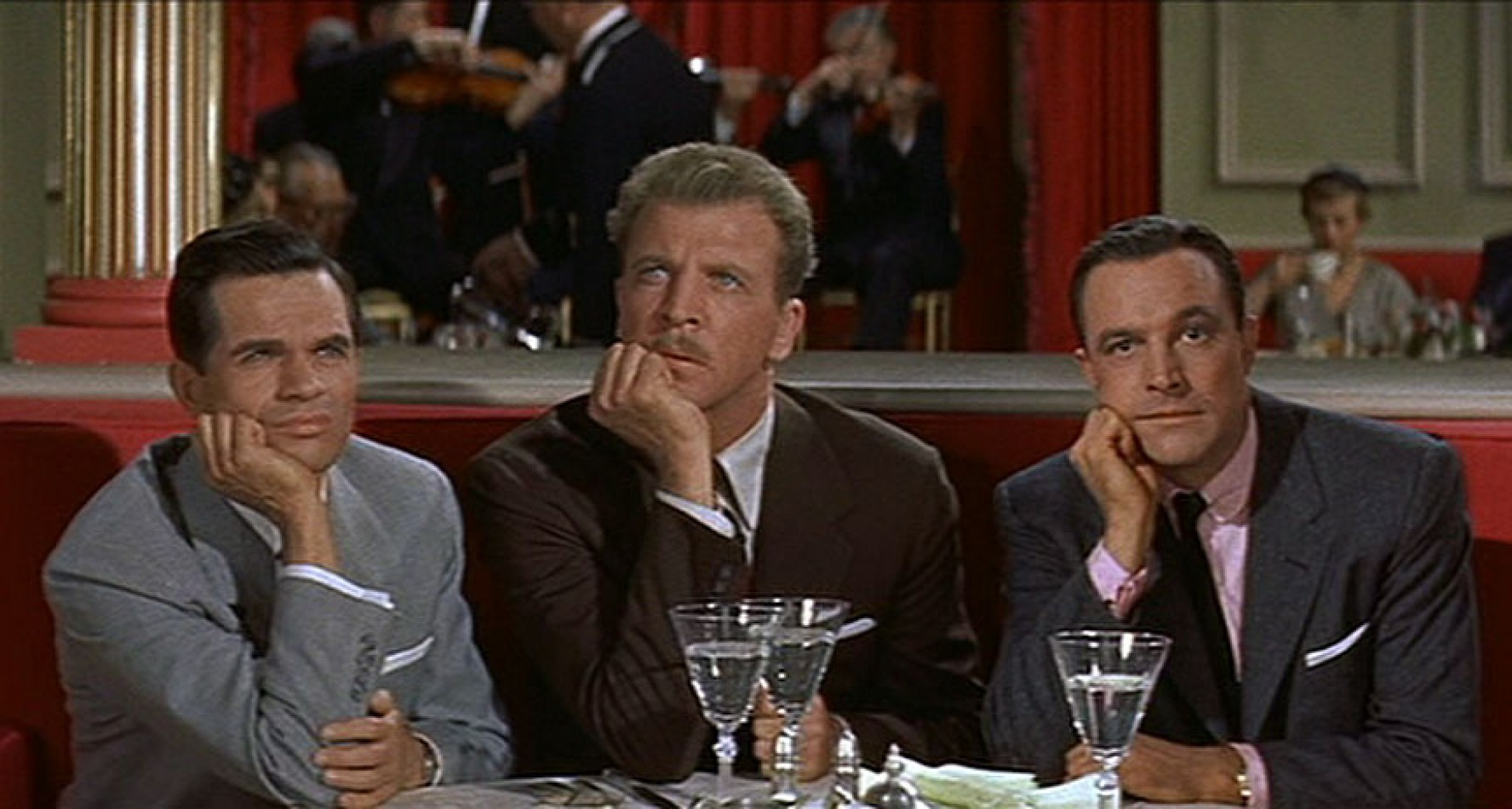 Michael Kidd, Dan Dailey, and Gene Kelly in the MGM musical,  It's Always Fair Weather  (1955).
