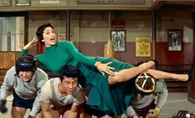 "Cyd Charisse is the center of attention in the ""Baby, You Knock Me Out"" dance routine  ."