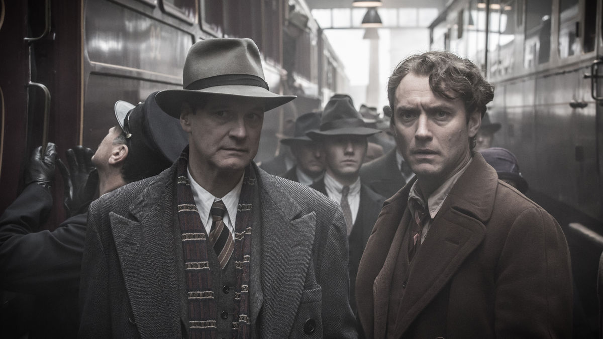 Colin Firth as Max Perkins and Jude Law as Thomas Wolfe in Michael Grandage's  Genius .