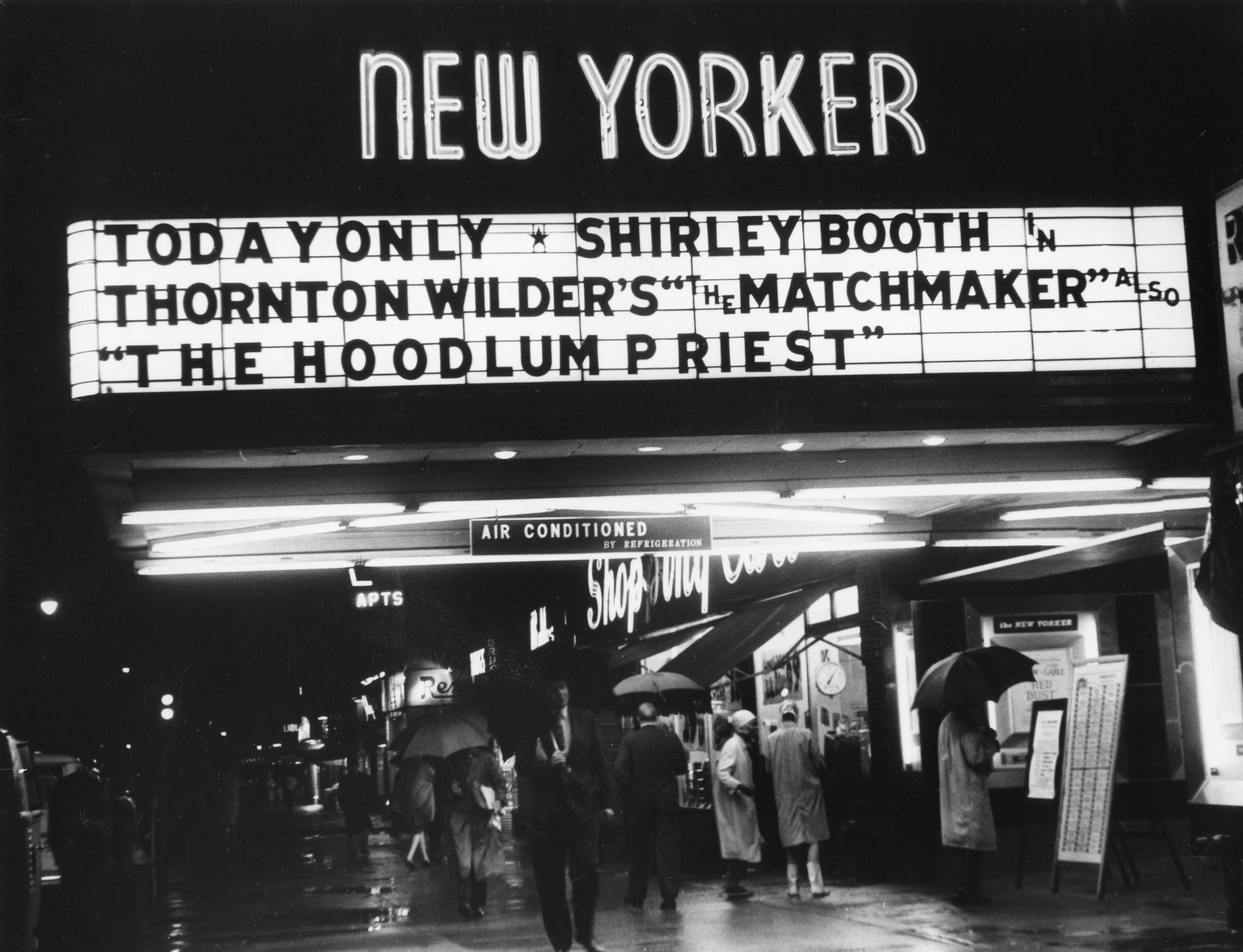 The New Yorker theater marquee. Photo courtesy of Photofest.