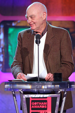 Dan Talbot accepting the Independent Filmmaker Project's Gotham Award for Industry Lifetime Achievement in 2004.
