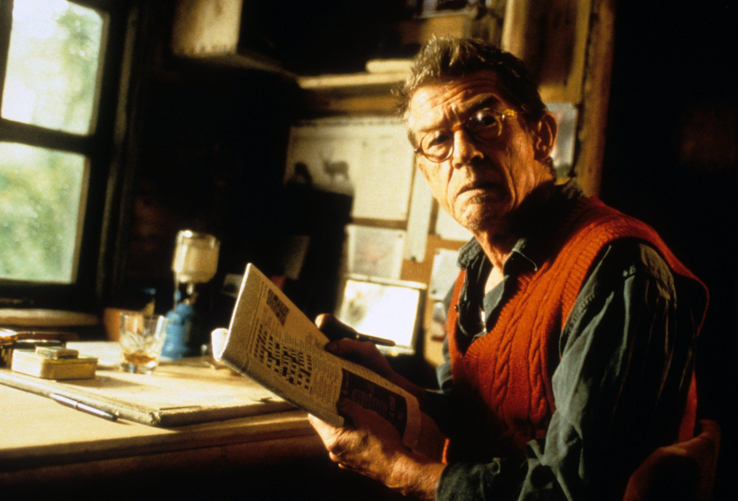 John Hurt in Jeremy Thomas's sole directorial effort,  All the Little Animals  (1998).