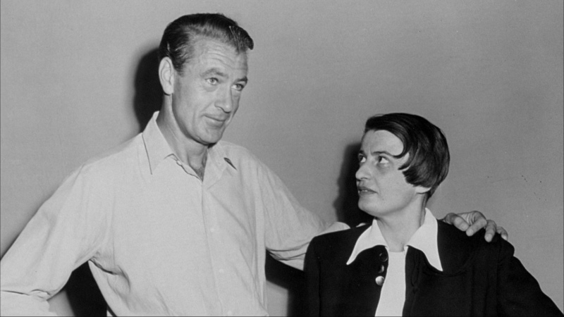 Gary Cooper and Ayn Rand.