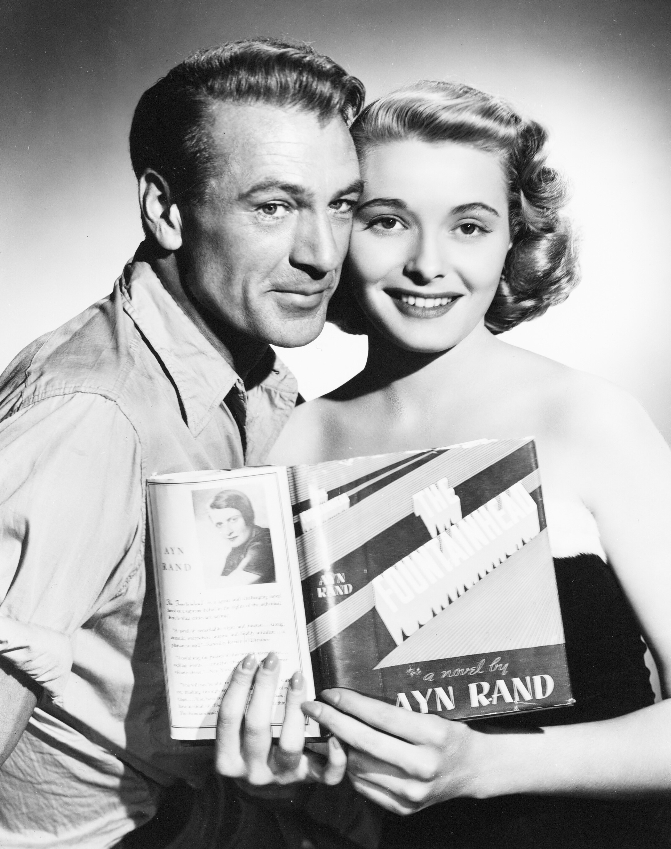 Gary Cooper and Patricia Neal.