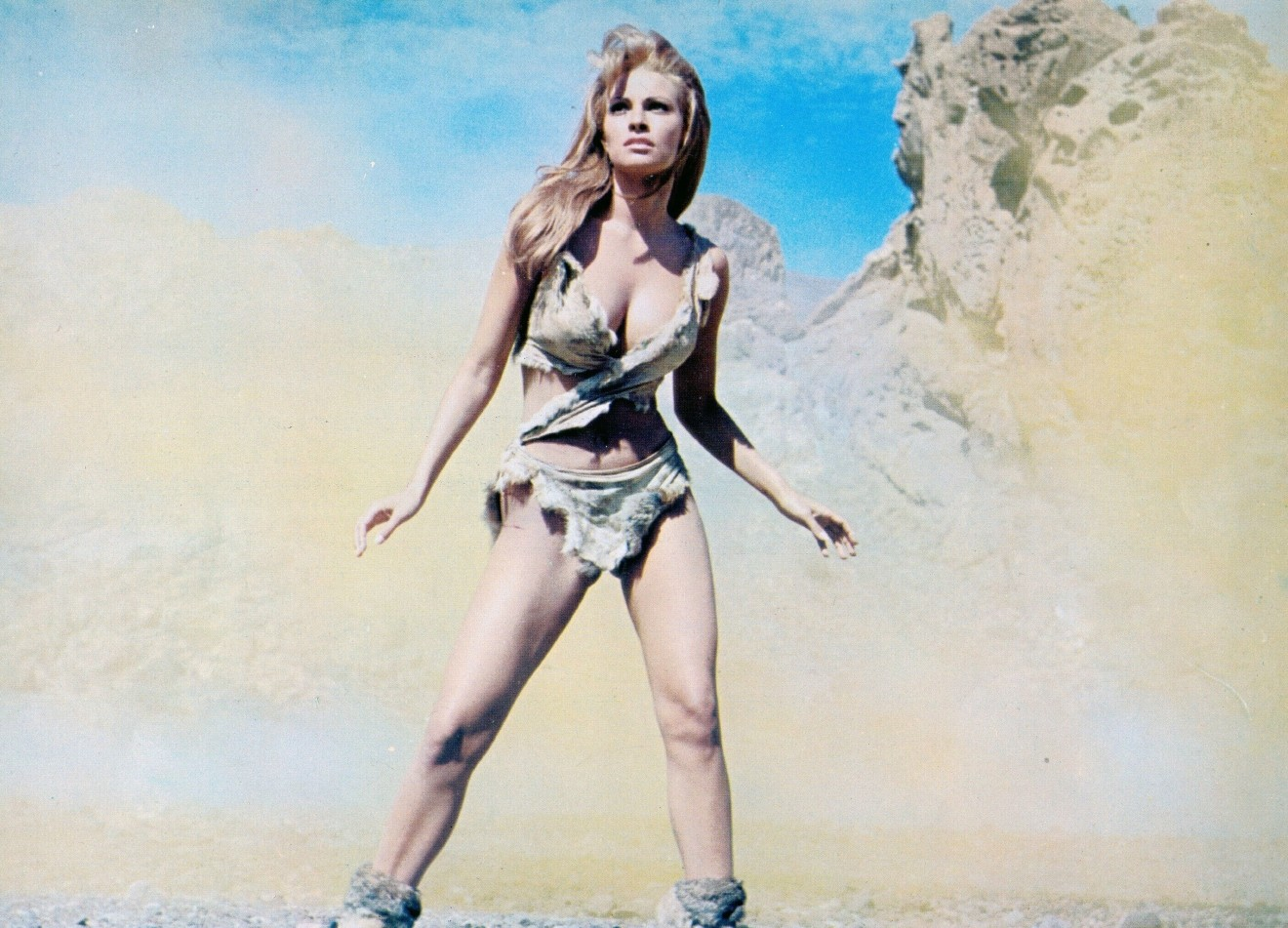 One Million Years B.C.: Raquel Welch in the still that launched her career.