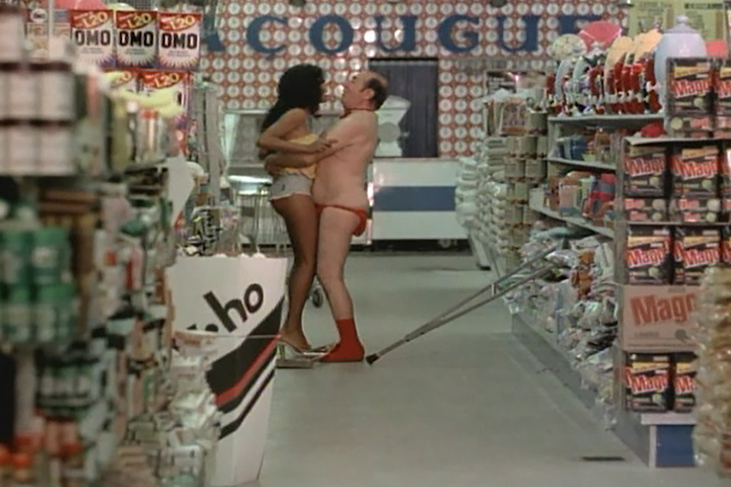 A characteristic 1970s  pornochanchada , the popular soft-porn genre that provides a sidelight on the Brazilian military dictatorship in Fernanda Pessoa's  Stories Our Cinema Did (Not) Tell.