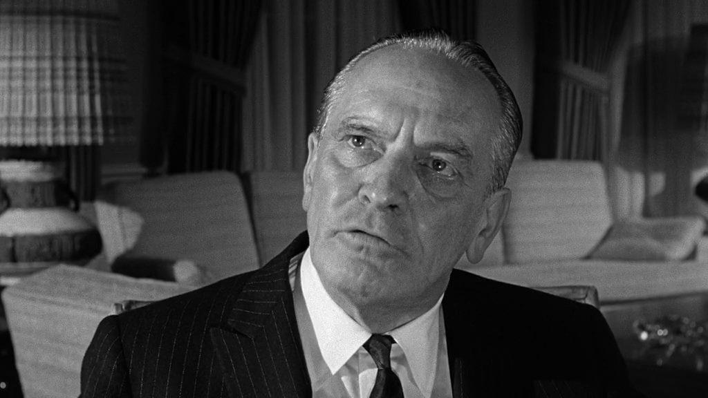President Lyman (Fredric March).