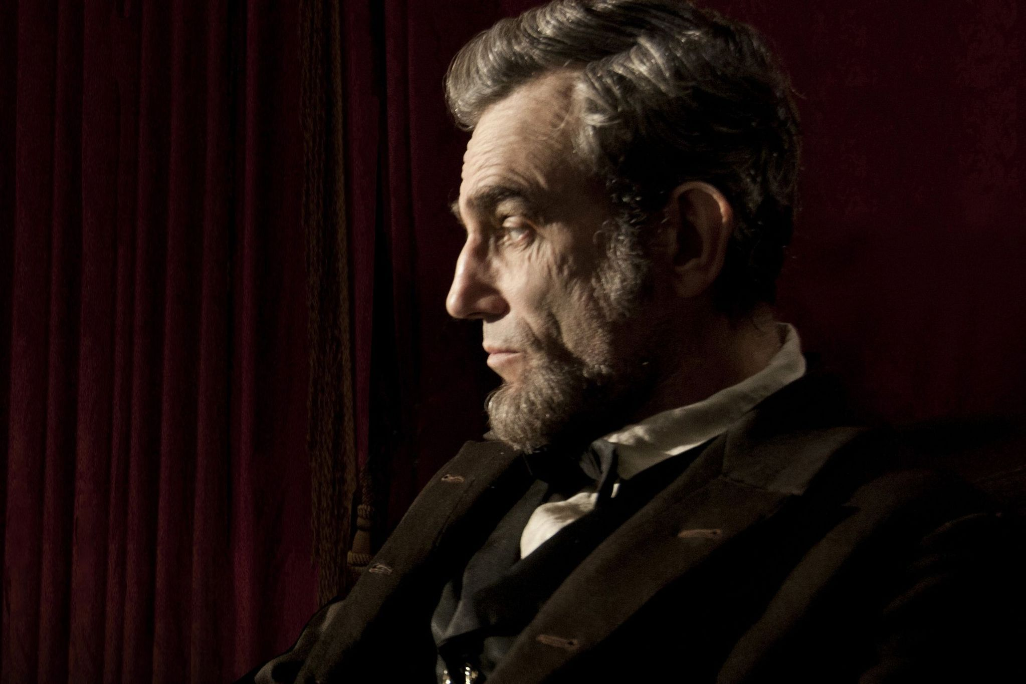 Day-Lewis as President Lincoln in Steven Spielberg's  Lincoln  (2012).