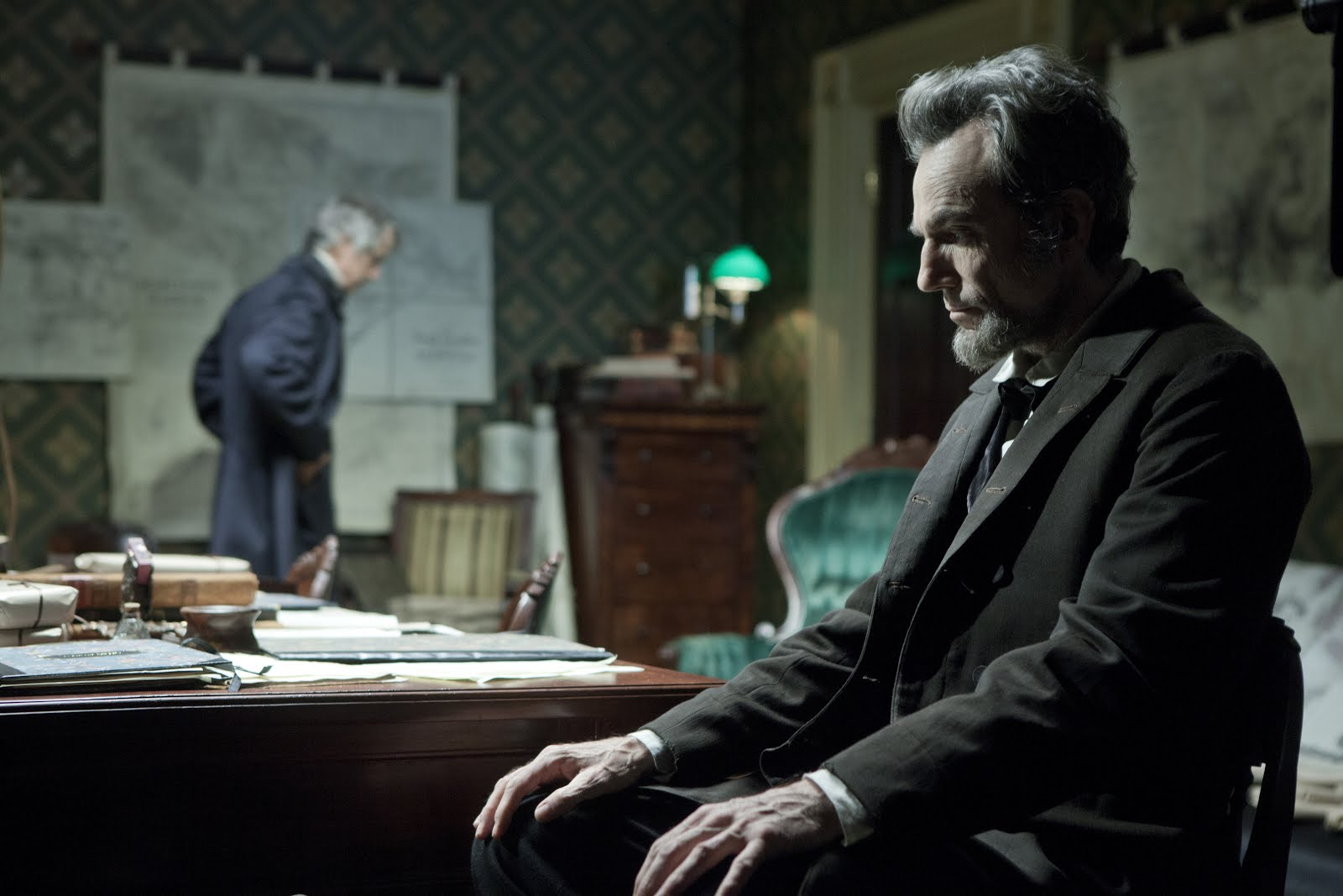 Daniel Day-Lewis as President Lincoln in Steven Spielberg's  Lincoln  (2012).